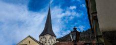Stadtbild aus der Froschperspektive als Motivation Singles aus Chur kennenzulernen