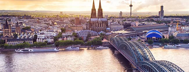 Kölner Singles: Panorama Köln von oben als Bild für Kölner Singles